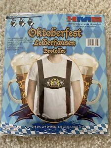 Lederhosen Adult Men Suspenders Oktoberfest Octoberfest German Bavarian Costume