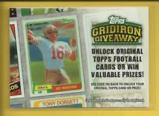 Joe Montana 2010 Topps Gridiron Giveaway Insert Card # GG-1 San Francisco 49ers