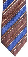 "Henry Jacobson Men's Silk Tie 59"" X 3.5"" Multi-Color British Striped"