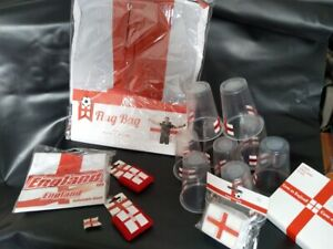 Mega Euro Supporters Pack Giant England Flag 5'x3' Flag Bag and much more ...