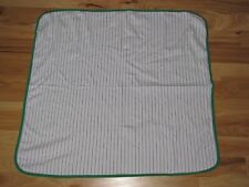 Just One You White Navy Blue Stripe Green Baseball Cotton Stretchy Baby Blanket