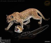 1:6 Scale JXK JxK009C The Leopard Fluoresced Eyes Animal Figure Model Toy