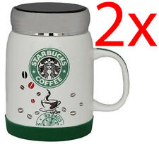 2 X Starbucks Drinking Travel Mug Coffee Tea Cup Gift Ceramic Hot Drinks