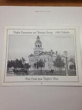 Taylor Conservation and Heritage Society 1995 Historic Calendar Taylor Texas TX