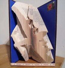 Book Folding PATTERN  Cut and Fold, Lancaster Bomber, Airplane