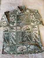 Men's Tori Richard Size Large Button Down Shirt Short Sleeve Floral Hawaiian BV