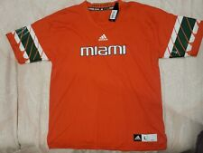 Adidas Miami Hurricanes NCAA Football Jersey Orange Men's Size Large