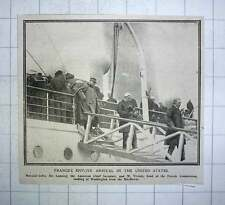 1917 French Envoys Arrive In The United States Joffre Lancing Viviani