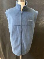 Columbia Sportswear Co Men's XL Mockneck Zip Up Cotton Vest Pony Jacket Fleece