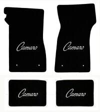 NEW 1967-69 Camaro Floor Mats Black Set of 4 Carpet Embroidered Script Logo All