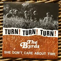 "THE BYRDS Turn Turn Turn Peace and Love promo 7"" 45 giri vinyl Red Ronnie"