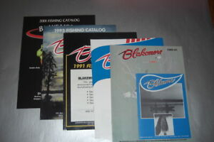 6 Blakemore Lures catalogs from the 1980's-2001 by Blakemore Lures of Missouri