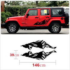 Graphic Snow Mountain Car Sticker Auto Side Skirt Decal For Jeep Wrangler 2 PCS