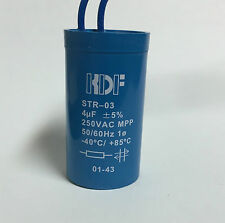 5pcs 4uf 250vac Capacitor suits lights floro fluorescent with leads 4mfd MPP