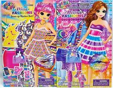 PAPER DOLLS ACTIVITY BOOK WITH 2 SHEETS STICKERS #LIS LISA FRANK DRESS UP DOLLS