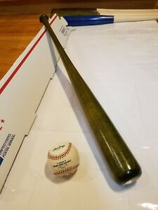 "Nice Solid Green Game Ready Wood (Maple) 33"" Inch Baseball Bat. 31oz Great Pop!"