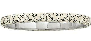 NWT Brighton CASABLANCA PALACE ROYAL Ivory Black Silver Bangle Bracelet MSRP $38