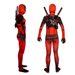 New Design Deadpool Costume Tights Suit for Kids Can Choose Swords and Pack