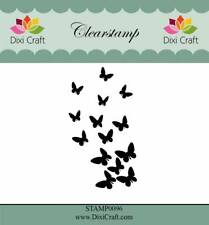 New Dixi Craft Clear Stamp Butterfly Flurry