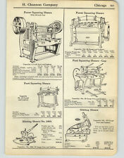 1925 PAPER AD 6 PG Tin Worker Tinner Tools Shears Brake Folding Machine Burring