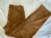 ⭐️ WOMENS LORO PIANA SUEDE BROWN 5 POCKET PANTS JEANS SIZE 6 ⭐️