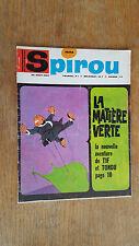 SPIROU N°1532 DU 24 AOUT 1967  / AVEC MINI RECIT PAR HUBUC ET MIKE / B+.