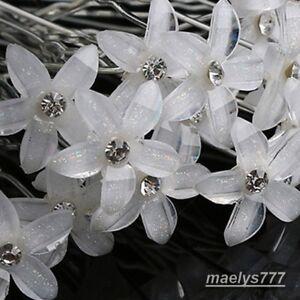 épingle à cheveux Mariée Fleur strass accessoire cheveux Mariage Soirée 10pcs