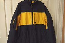 Men's Abercrombie & Fitch fleece lined parka jacket  size L weatherproof perf.