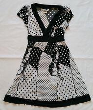 Speechless V-Neck Bowback Floral Polka Dot Dress Juniors / Misses size Small