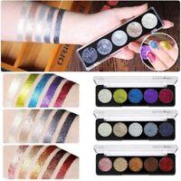5 Couleurs Palette Ombre Fard à Paupières Paillette Eyeshadow Glitter Maquillage