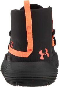 Boys Under Armor Athletic Shoes Size 6 Orange Black SC