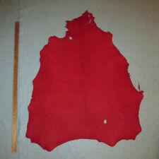 Soft Red Sheepskin Leather Hide 3 oz