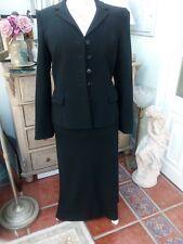 BNWT Minuet Ladies Black 2 Piece Jacket & Skirt Suit Sz 12 petite was over £165