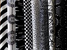 "Black and White Fabric 40 Piece Charm Pack 5"" Fabric Squares Premium Cotton"