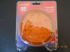 """MAXIMA 4"""" ROUND AMBER TURN SIGNAL / STOP LIGHT W/ 48 DIODES"""