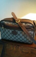 VINTAGE GUCCI BROWN GG CROSSBODY BAG