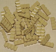 LEGO LOT OF 50 NEW TAN 1 X 4 WESTERN FORT WALL CASTLE PALISADE PIECES PARTS