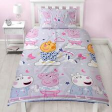 PEPPA PIG SLEEPY SINGLE DUVET COVER SET REVERSIBLE SUZY SHEEP CANDY CAT