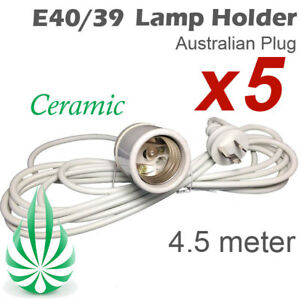 5x E40 ENERGY SAVING CFL LED LAMP LIGHT HOLDER FO HYDROPONIC GROW TENTS SEEDLING