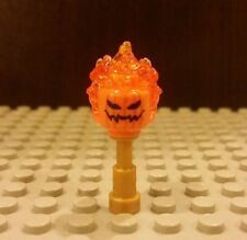 Lego NEW Headless Horseman Minifig Flaming Orange Head- Halloween Pumpkin 76057