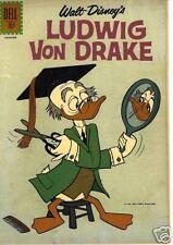 RARE DELL COMICS LUDWIG VON DRAKE DISNEY COMIC #1 FINE