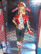 Barbie   Hello-Kitty           2008 mattel collector Doll