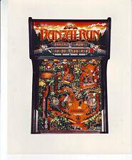 BANZAI RUN By WILLIAMS 1988  ORIGINAL PINBALL MACHINE NOS COLOR PROMO PHOTO #2