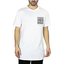 Men's Cotton Plain Basic Short Sleeve T-Shirt Pocket Tee Shirt White M 215094