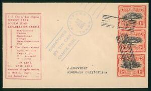 MayfairStamps Tonga Tin Can Canoe Mail to Glendale California 1934 Cover wwp6127