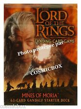deck LORD of the RINGS starter MINES of MORIA GANDALF 63 trading cards carte NEW