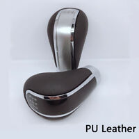 5 Speed Car Gear Stick Styling Transmission Knob Shifter Level PU Leather Metal