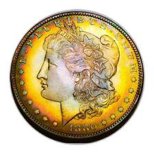 1880 O Unc Morgan Silver Dollar Semi Pl/ Toning,/Key Date * 318