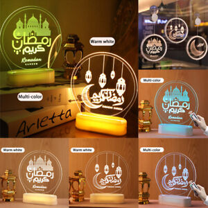 Eid Mubarak Ramadan LED Night Light Mubarak Lights Muslim Islam Hanging Decor
