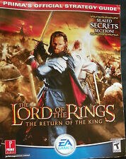 LOTR RETURN OF THE KING GAMECUBE PRIMA'S OFFICIAL STRATEGY  GUIDE